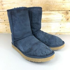 Blue Ugg Classic Short Boot Sz 10